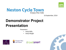 Our Neston Cycle Town Presentation