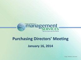 Purchasing Directors - Department of Management Services
