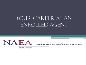 Your Career as an EA - National Association of Enrolled Agents