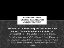 Presidencies of George Washington and John Adams