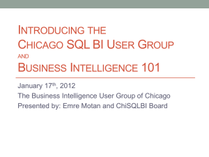 Introducing the - Chicago SQL BI User Group > Home