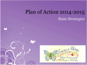 2014-2015 Plan of Action - Florida School Nutrition Association