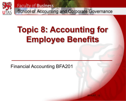 Accounting for Employee Benefits