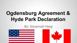 Ogdensburg Agreement & Hyde Park Declaration