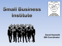 PowerPoint Slides - UNM Small Business Institute
