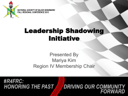 FRC Shadowing Initiative Presentation