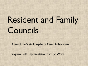 Resident and Family Councils PowerPoint Presentation