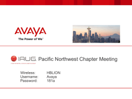 AVAYA- Mtg Intro Slides
