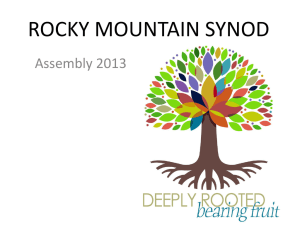 ROCKY MOUNTAIN SYNOD - Our Saviour`s Lutheran Church