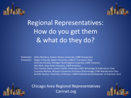 File - Chicago Area Regional Representatives