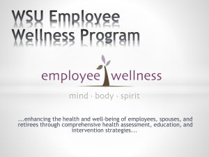 Employee Wellness - Weber State University