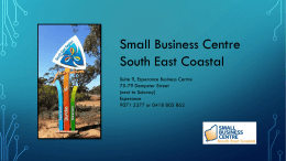 Esperance business development presentation
