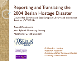 Reporting and Translating the 2004 Beslan