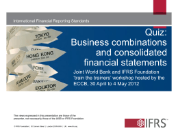 Quiz: Business combinations and consolidated financial