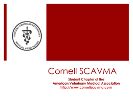 Cornell SCAVMA - Cornell University College of Veterinary Medicine