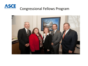 ASCE Congressional Fellows Program