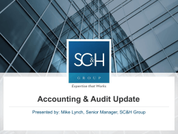 the Accounting Audit Presentation