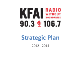 KFAI Strategic Plan