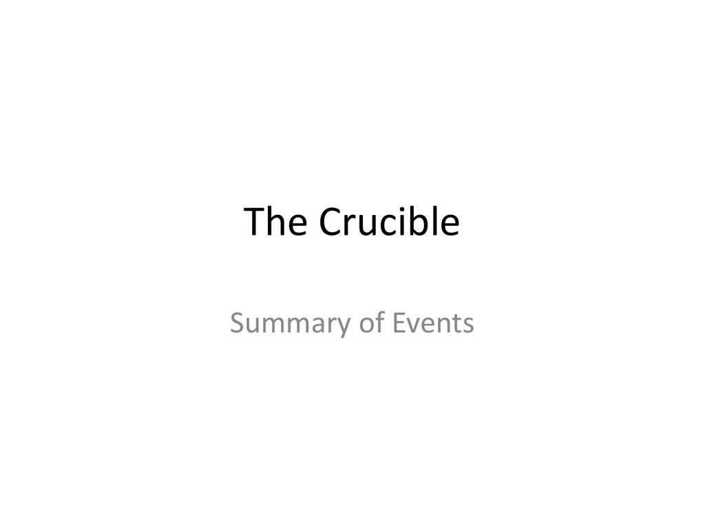 the crucible study guide act iv Free summary and analysis of act iv in arthur miller's the crucible that won't make you snore we promise.