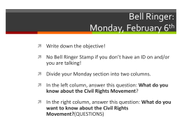 Bell Ringer: Monday, February 6th