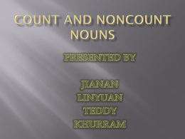 COUNT AND NONCOUNT NOUNS - umei005-701