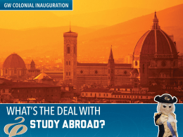 Study Abroad Fact