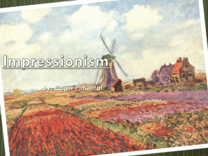Impressionism Project