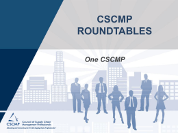 How to Bring Home CSCMP`s 5 Strategic Initiatives