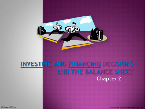 Investing and Financing Decisions and the Balance