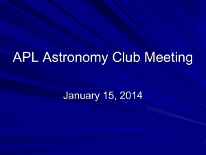Astro Club January 2014 Meeting