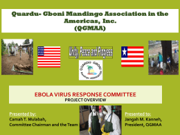 Quardu Gboni Mandingo Association In the Americas Ebola Virus