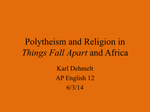 Polytheism and Religion in Things Fall Apart and