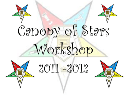 Canopy of Stars Workshop