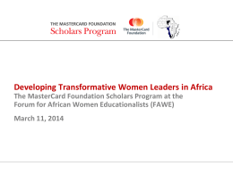 here - Forum for African Women Educationalists
