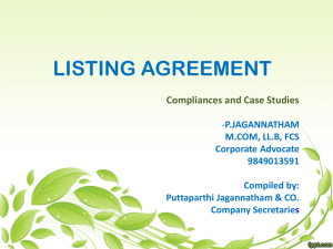 LISTING AGREEMENT