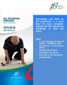 NEW! Fall Prevention For Caregivers (2 hour)