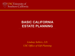 Basic California Estate Planning Powerpoint