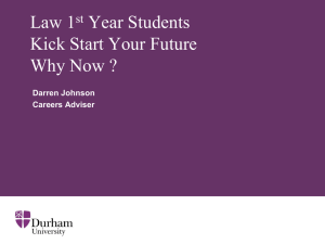 Law 1st Year Students Kick Start Your Future Why