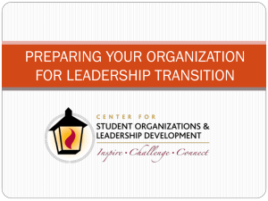 preparing your organization for leadership transition