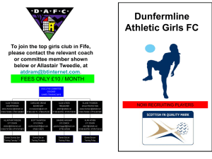 Dunfermline Athletic Girls FC - Scottish Football Association