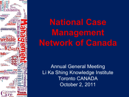 National Case Management Network of Canada