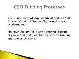 Funding Procedures for CSOs