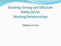 Working relationships PPT 2011