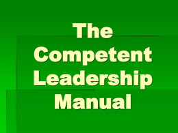The Competent Leadership Manual
