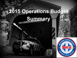 2015 Operations Budget - Southern Chester County Emergency