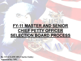 FY-03 Reserve E8/9 Selection Board
