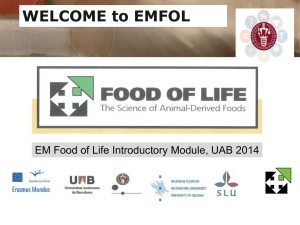 Introduction to EMFOL - Food Animal BioSciences