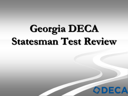 Georgia DECA Statesman Test Review