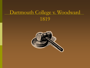 Dartmouth College v. Woodward 1819