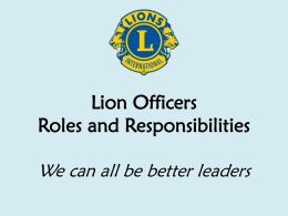 Officer roles summary 2014